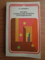 Anticariat: Eugen Lovinescu - Istoria literaturii romane contemporane