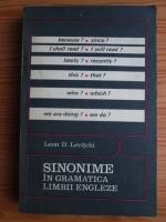 Leon D. Levitchi - Sinonime in gramatica limbii engleze
