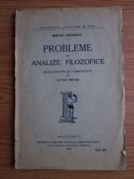 Mihai Eminescu - Probleme si analize filozofice. Descoperite si comentate de Octav Minar (1924)