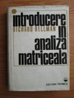 Richard Bellman - Introducere in analiza matriceala
