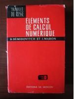 B. Demidovitch - Elements de calcul numerique