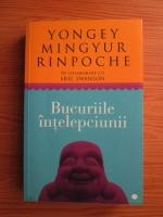 Anticariat: Yongey Mingyur Rinpoche - Bucuriile intelepciunii. Cum sa intampini schimbarea si sa-ti gasesti libertatea