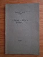 Constantin D. Busila - Cu privire la situatia economica (1931)