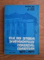 Sebastiana Mihai, Alexandru Firescu, Ion Patrascu - File din istoria invatamantului comercial craiovean (1877-!977)
