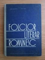 Barbu Theodorescu, Octav Paun - Folclor literar romanesc. Curs pentru institutele pedagogice de 3 ani (1964)