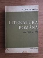 Anticariat: Constantin Ciopraga - Literatura romana intre 1900-1918