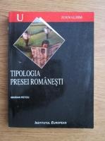 Marian Petcu - Tipologia presei romanesti