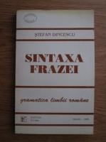 Stefan Dincescu - Sintaxa frazei