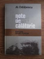 Anticariat: A. I. Odobescu - Note de calatorie