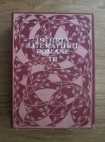 Istoria literaturii romane (volumul 3)