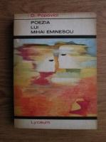 Anticariat: Dumitru Popovici - Poezia lui Mihai Eminescu