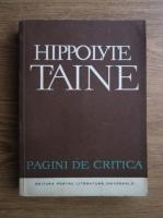 Anticariat: Hippolyte Taine - Pagini de critica