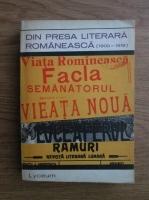 Anticariat: D. Murarasu - Din presa literara romaneasca