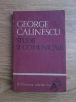 George Calinescu - Studii si comunicari