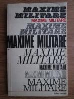 Maxime militare