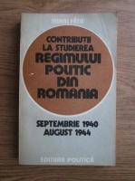 Mihai Fatu - Contributii la studierea regimului politic din Romania