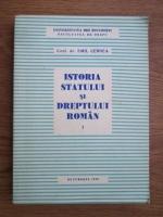 Emil Cernea - Istoria statului si dreptului roman (volumul 1)