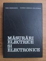Anticariat: Paul Manolescu, Carmen Ionescu Golovanov - Masurari electrice si electronice