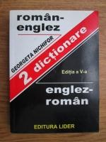 Anticariat: Georgeta Nichifor - 2 dictionare. Englez-roman, roman-englez