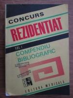 Anticariat: Concurs rezidentiat (volumul 1, compediu bibliografic)