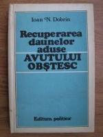 Anticariat: Ioan N. Dobrin - Recuperarea daunelor aduse avutului obstesc