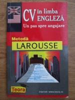 Roland Marie Claude, Mast Grand Martha - CV in limba engleza. Un pas spre angajare