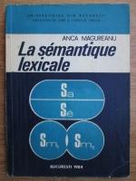Anca Magureanu - La semantique lexicale