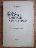 Anticariat: Nicolae Iorga - Istoria literaturii romanesti contemporane (volumul 2, 1921)