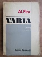 Anticariat: Alexandru Piru - Varia (preciziuni si controverse)