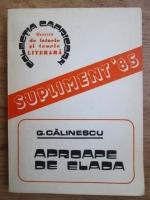 Anticariat: George Calinescu - Aproape de Elada