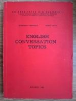 Georgiana Galateanu Farnoaga, Doina Lecca - English conversation topics