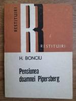 Anticariat: H. Bonciu - Pensiunea doamnei Pipersberg