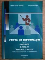 Anticariat: Constantin Florea - Teste si informatii pentru chelner, barman, maitre d'hotel. Verificarea cunostintelor profesionale