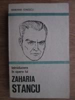 Mariana Ionescu - Introducere in opera lui Zaharia Stancu