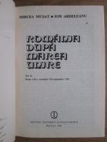 Anticariat: Mircea Musat, Ion Ardeleanu - Romania dupa Marea Unire (volumul 2, partea 2)